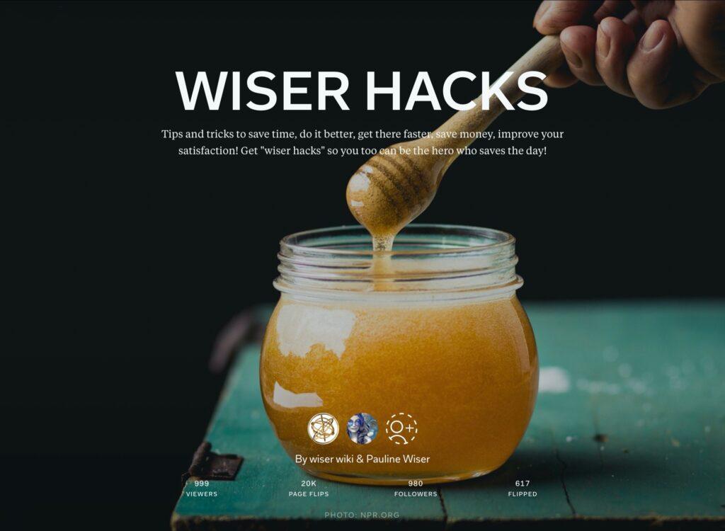 https://flipboard.com/@wiserwiki/wiser-hacks-k15icrgvy